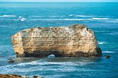stock photo of razorback  - One of the rocks in the Bay of Islands Coastal ParkGreat Ocean Road Australia - JPG