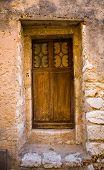 Medieval Wooden Door And Entryway In France