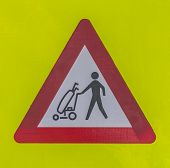 Crossing Golfers Warning Sign.