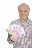 Man Holding Lots Of Cash