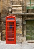 Old Style Red Phone Booth