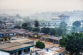 Big African City At Dawn