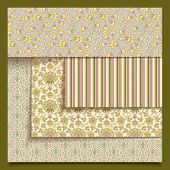 Set Of Seamless Retro Fabric Or Paper Patterns