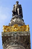 stock photo of leopold  - King Leopold Statue I Statue on the Congress Column in Brussels - JPG