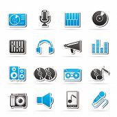 Music and audio equipment icons