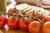 Cherry Tomato And Crackers