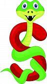Alphabet S with snake cartoon