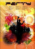 Discoteque poster. vector