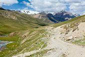 Road in mountains of Tien Shan