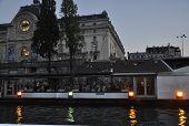 Paris-august 15- Seine night scene in Paris