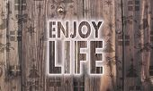 Wooden Enjoy Life Symbol With Presents