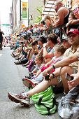 Crowd Lines Street In Atlanta To Watch Dragon Con Parade