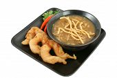 Soup & Shrimp With Clipping Path
