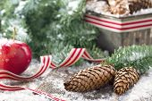 Decorative Rustic Christmas Setting