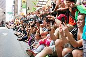 Spectators Pack Street Watching Dragon Con Parade In Atlanta
