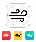 Sandstorm weather icon.