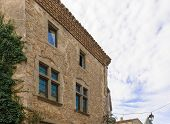 Houses In Medieval City Of Carcassonne In France