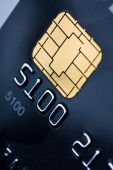Credit Card With Gold Chip