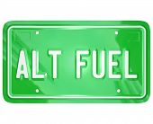 Alt Fuel Alternative Power Energy License Plate
