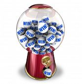 Win Ball Contest Lucky Winner Gumball Machine