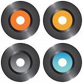 Blank vinyl records