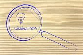 Finding A Winning Idea, Magnifying Glass Design