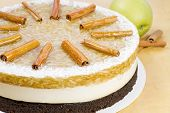 Apple Cake With Cinnamon Sticks