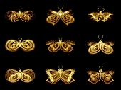 Collection Of Fractal Butterflies