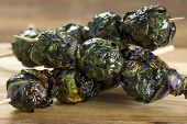 Grilled Purple Brussel Sprout Kabobson Skewers