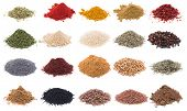 stock photo of flaxseeds  - Herbs and Spices - JPG