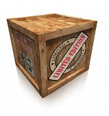 Limited Edition Sign On Wooden Box Crate