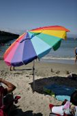 Bright Multi-color Beach Umbrella