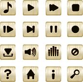 Musical Player Metallic Icons Vector Set
