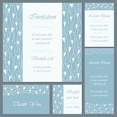 Wedding Or Invitation Card Set
