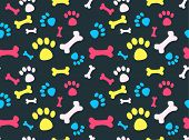 Pet footprints pattern
