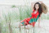 Georgian Girl On The Beach
