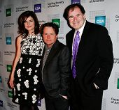 NEW YORK-NOV 18; Actors Betsy Brandt, Michael J. Fox and Richard Kind attend the CSA 29th Annual Art
