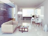 stock photo of formwork  - modern interior design  - JPG