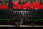 image of mixer  - Sound Mixer is prepared for the big concert