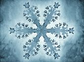 Painting-style representation of a snowflake