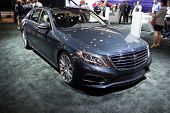 LOS ANGELES, CA - NOVEMBER 20: A Mercedes Benz S550 on exhibit at the Los Angeles Auto Show in Los Angeles, CA on November 20, 2013