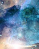 stock photo of outer  - colorful and beautiful galaxy somewhere in deep outer space - JPG