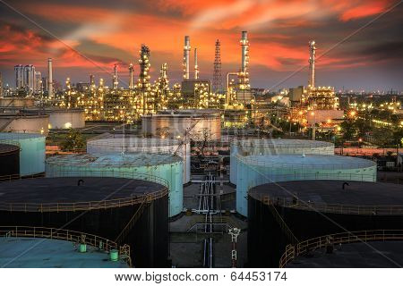 Landscape Of Oil Refinery Industry poster