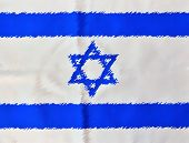 Painted Israel Flag On Independence Day