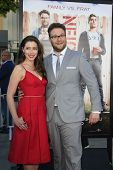 LOS ANGELES - APR 28:  Lauren Miller, Seth Rogen at the