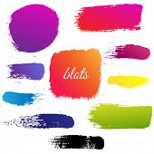 Color Blots Set, Vector Illustration