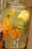 jar with citrus water
