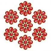 Red Flowers Of Rubies Isolated Objects