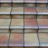 vintage terracotta stairs isolated
