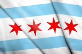 Flag Of Chicago (usa) poster